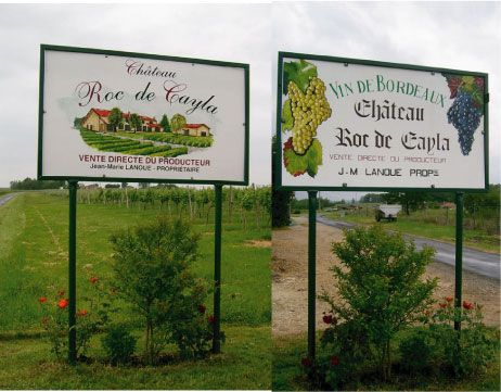 panneau publicitaire vin